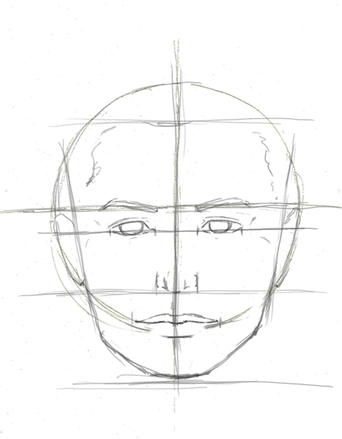 How to draw proportion on a face drawing portraits tutorial