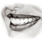 how to draw a smile 3 quarter view