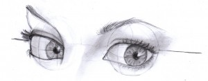 three quarter view eyes