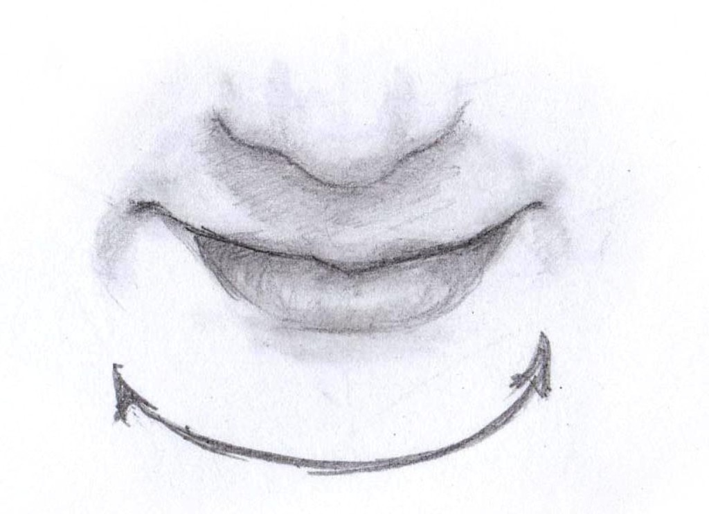drawing the mouth top view